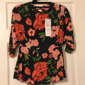 Zara Flower Blouse - Small.